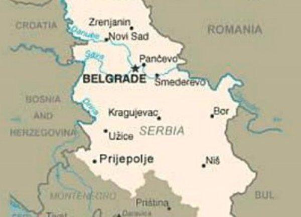 Karta Srbije I Kosova Karta