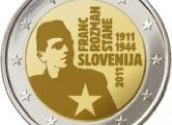 Euro s petokrakom i likom Franca Rozmana