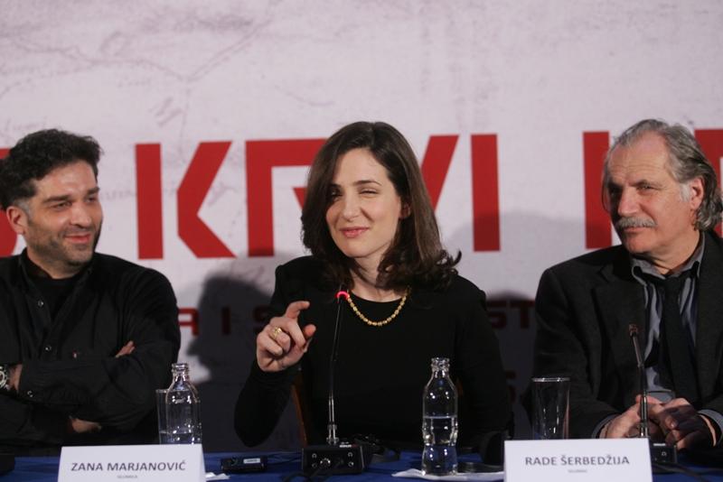 Ekipa filma Angeline Jolie na konferenciji za novinare u Sarajevu/ Foto: DEPO PORTAL