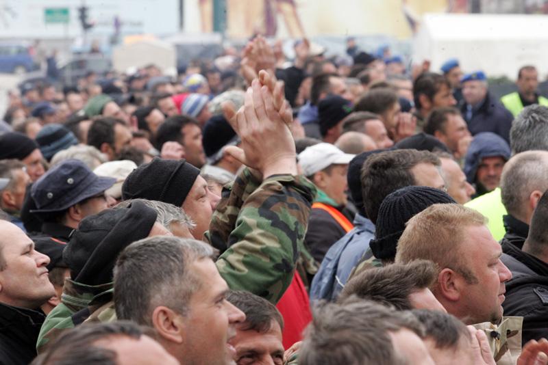 Protesti bivših pripadnika OSBiH u Sarajevu/ Foto: DEPO PORTAL