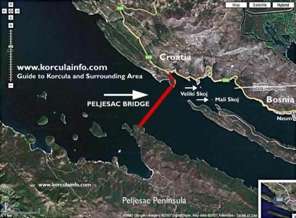Neumski zaljev - Pelješki most
