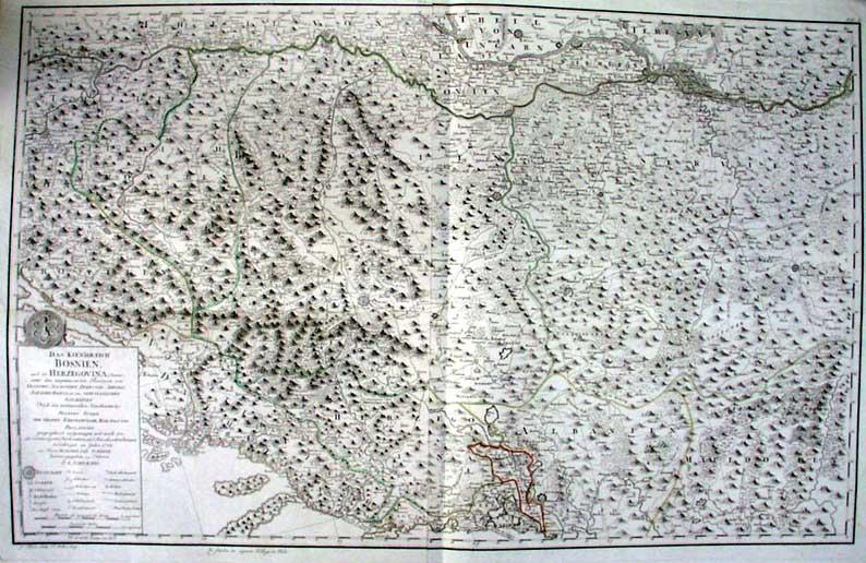 Karta BiH Maximilliana Schimeka