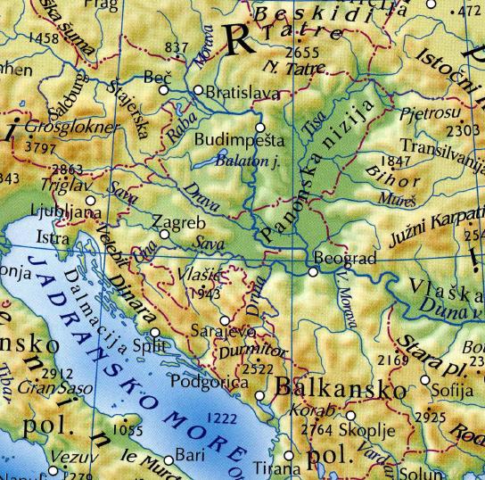 fizicka karta evrope Na karti Evrope kupljenoj u 'Svjetlosti' FBiH i RS prikazane kao  fizicka karta evrope