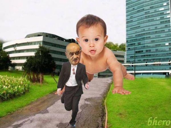 Bevanda bježi pred bebama