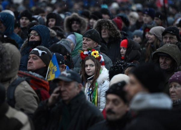 Demonstracije u Kijevu/ Foto: AA