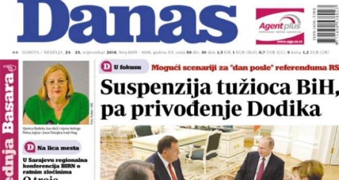 Dan poslije referenduma u RS-u: Suspenzija tužioca Gorana Salihovića pa hapšenje Dodika?!