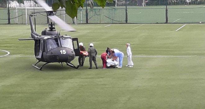 Pogledajte snimak kada je Emir Spahić helikopterom iz Trebinja stigao u Sarajevo